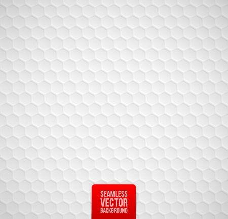 hexagonal: Vector hexagons seamless white background Illustration