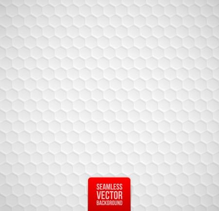 Vector zeshoeken naadloze witte achtergrond Stock Illustratie