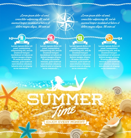 Sommer Urlaub und Reise-Design Illustration