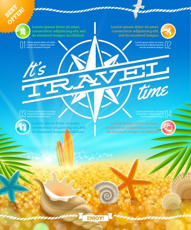 Vacation, travel and summer holidays vector design Stock Vector - 20899763