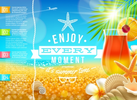 Vacation, travel and summer holidays vector design Stock Vector - 20899768