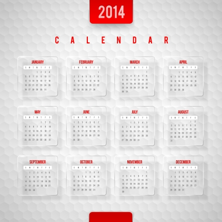 Vector design template -  Calendar of 2014 Stock Vector - 21722645