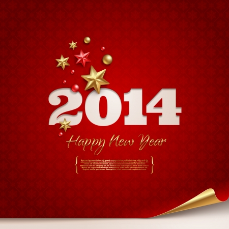 Vector holidays design - 2014 new year greetings Vector