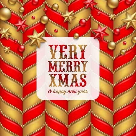 Christmas vector background, decoration and label with holidays greetings