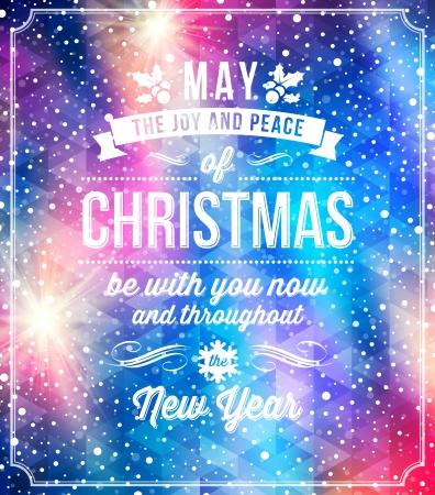sayings: Christmas belettering groeten op een vakantie winter achtergrond - vector illustratie Stock Illustratie