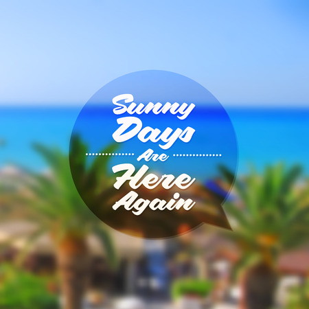 summer's: Type vector design - summers greeting sign against a tropical resort defocused background