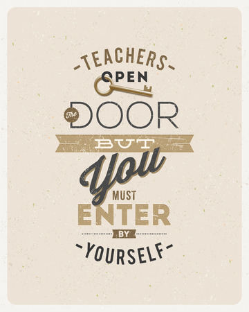 typographical: Typographical vector design - quote about a teacher