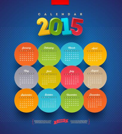 november 3d: Calendar 2015 template