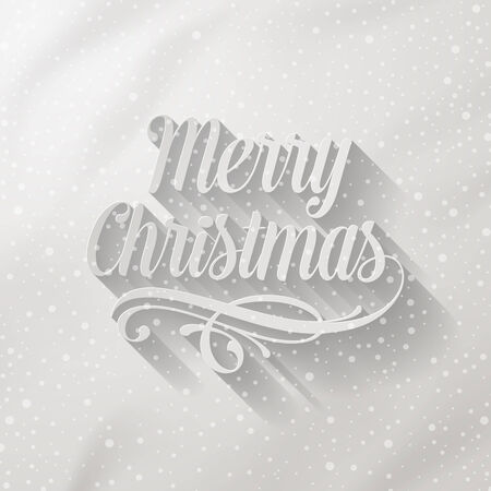 Merry Christmas - lettering with long shadow Vector