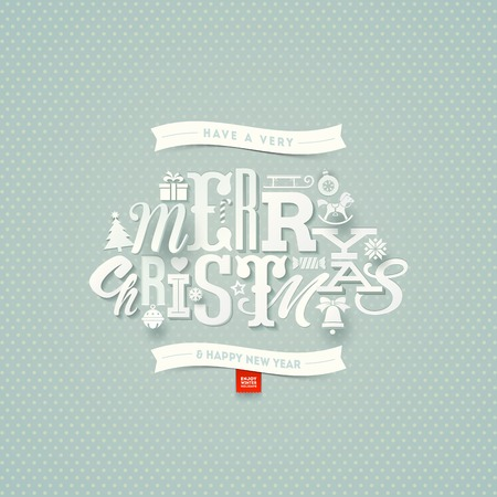types: Christmas type design - vector illustration Illustration