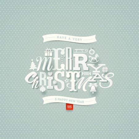 tipos de letras: Diseño de tipo de Navidad - ilustración vectorial