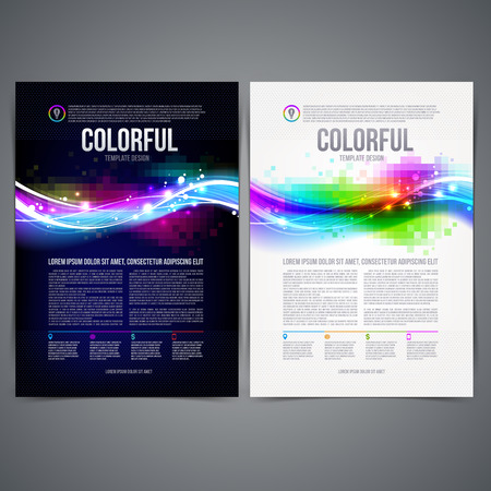 Vector illustration - business template page design with colorful abstract shape Vector