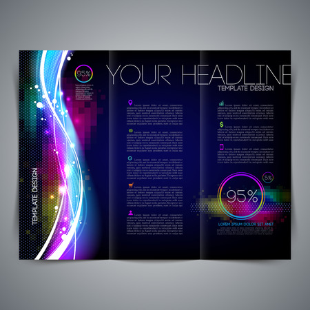 Vector template page design, brochure, leaflet, with colorful abstract shape Vector