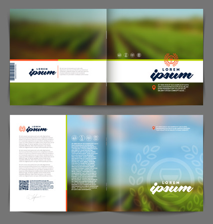 Vector template booklet page design - Wine and winemaking Vector