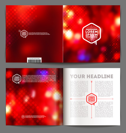 catalog design: Vector abstract template booklet design - cover and inside pages