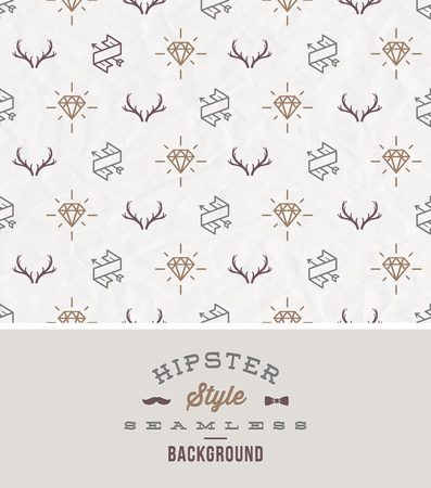 crease: Vector illustration  hipster style seamless background