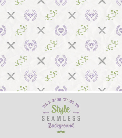 Hipster style seamless vector background Vector