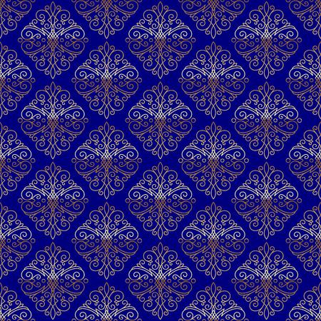 refine: Seamless pattern with flourishes calligraphic elegant ornament elements - vector background Illustration