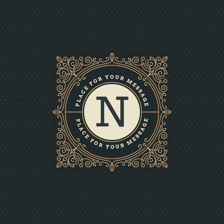 boutique hotel: Monograma plantilla de logotipo con florituras elementos caligr�ficos elegantes ornamento. Dise�o de identidad con la carta de cafeter�a, tienda, restaurante, boutique, hotel, her�ldica, moda, etc