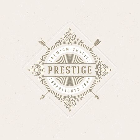 boutique hotel:  template with flourishes calligraphic elegant ornament elements. Identity design with letter for cafe, shop, store, restaurant, boutique, hotel, heraldic, fashion and etc.