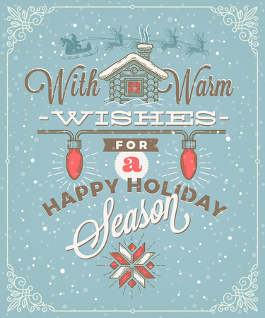 type: Christmas type design with holidays decoration