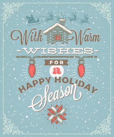 decoration design: Christmas type design with holidays decoration