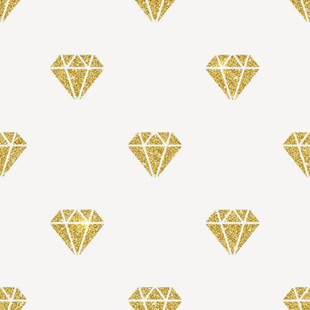 glisten: Vector seamless background - Glitter gold diamonds