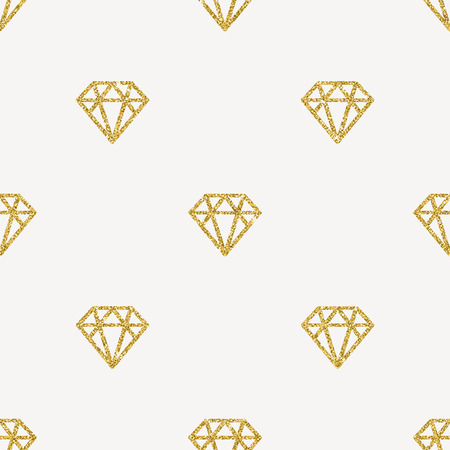 glistening: Seamless Vector Background - Glitter gold diamonds