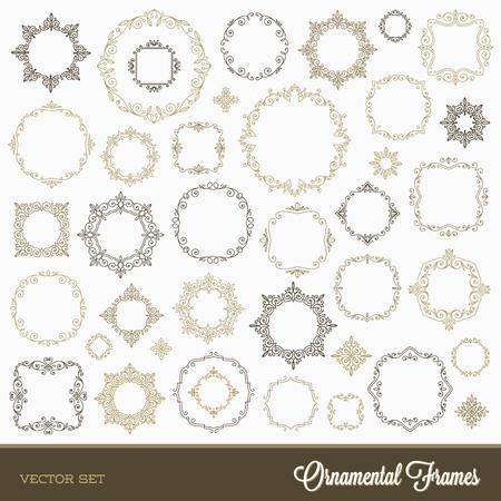 swash: Set of flourishes ornamental frames - illustration