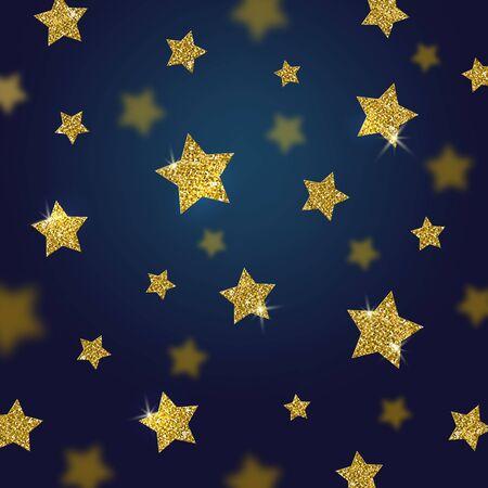 glisten: Glitter gold stars vector background