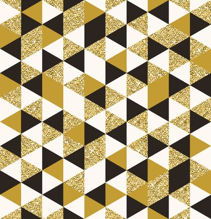 Geometric pattern composed of triangular elements - vector seamless background Illustration