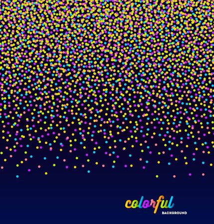 celebration party: Abstract celebration or party background with multicolor confetti - vector illustration