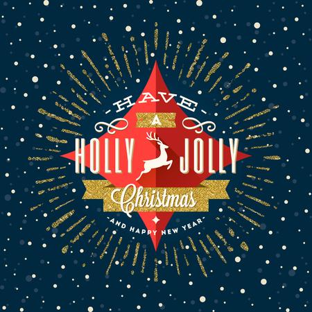 Vector Christmas greeting card Illustration