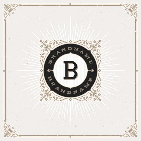 pattern: Vector design - flourishes monogram logo. Identity design for cafe, shop, store, restaurant, boutique, hotel, heraldic, fashion and etc. Illustration