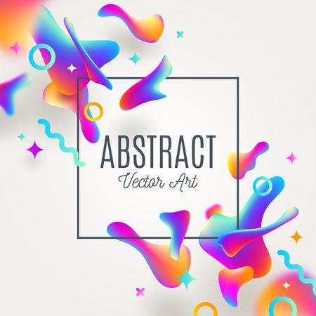 Fond abstrait avec des gouttes multicolores fluides. Conception de vecteur pour couvertures, cartes de voeux, affiches ou dépliants. Banque d'images - 82338491