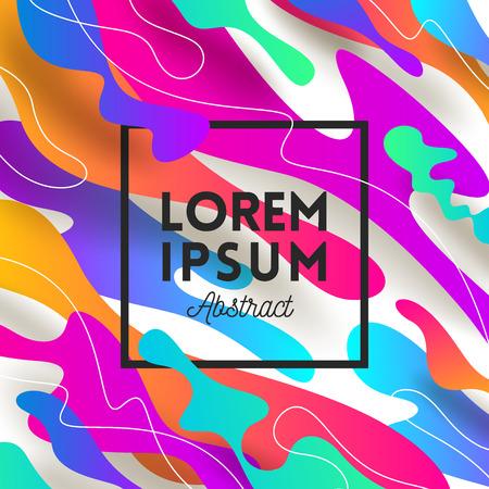 Illustration vectorielle. Forme abstraite fond multicolore avec la renommée du message. Conception pour carte de voeux, affiche, couverture ou dépliants.