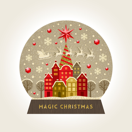 Christmas greeting card design. Vectores