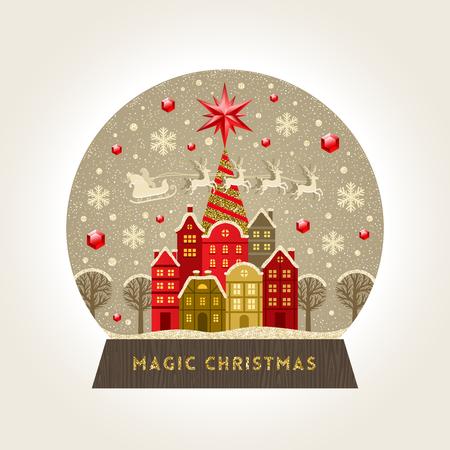 Christmas greeting card design. Stock Illustratie