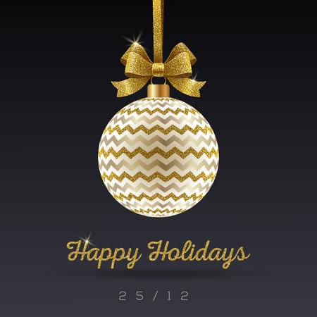 shinning: Christmas greeting card .