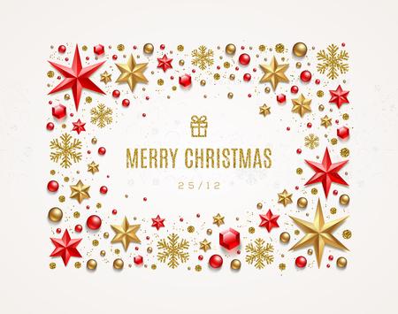 Christmas greeting illustration.