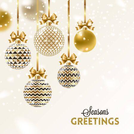 クリスマスのグリーティング カードのデザイン。