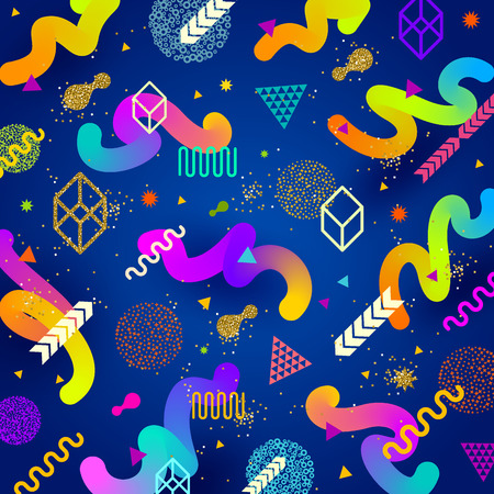 Vector abstract bright background with multicolored  geometric shapes Illustration