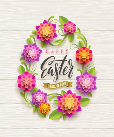 Easter card design vector illustration