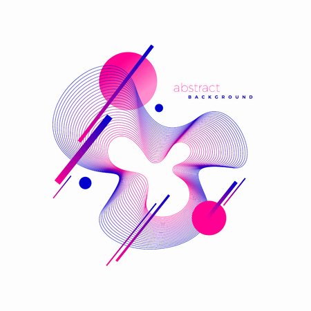 Abstract vector design style illustration with guilloche waveform element.  イラスト・ベクター素材