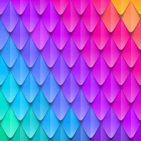 Abstract multicolored background. Paper colorful artificial squama or plumage. Vector illustration.