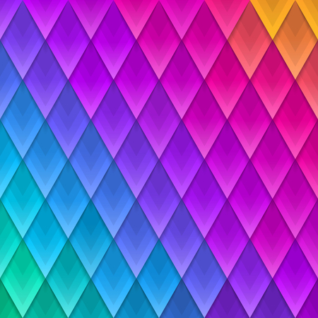 Abstract multicolored  geometric shape background. Paper colorful artificial  plumage. Vector illustration. Paper triangles background.