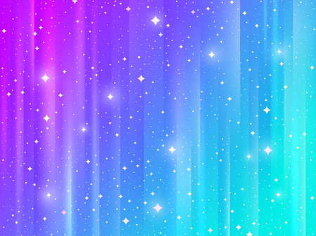 Abstract multicolored striped background with shining stars. Vector illustration.