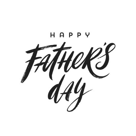 Happy fathers day brush calligraphy, Lettering. Vector illustration. Illustration