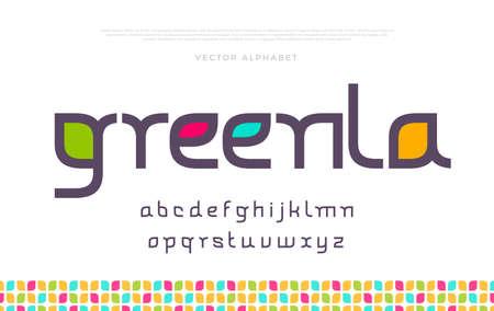 Elegant modern minimal font. Modern typeface. English alphabet. Set of letters. Font set for music, cover, headline, creative design. Vector illustration.
