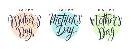 Mothers day calligraphy. Vector set. Design element for greeting card or invitation.